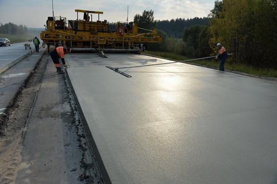 Основания дорог из тощего бетона отколотый бетон