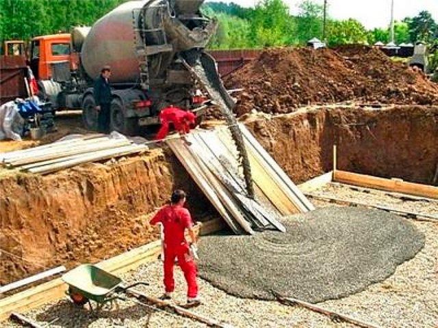 песка бетона
