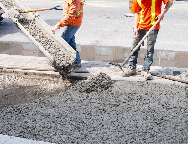 бетон из цемента и гравия